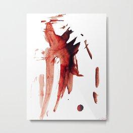 Nosebleed On Canvas Metal Print