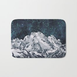Constellations over the Mountain Bath Mat