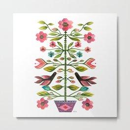 Folk Tapestry Metal Print