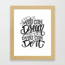 Quote - Walt 1 - Typedesign Framed Art Print