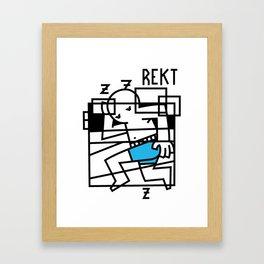 Pass Out Framed Art Print