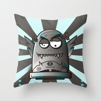 fault Throw Pillows featuring Fault 45 03 (its not his fault) by Face Leakage