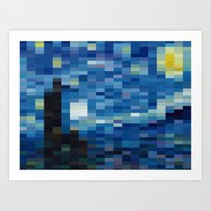 Starry Night Mosaic Art Print