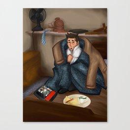 Comfy Castiel Canvas Print