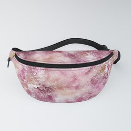 Champagne pink and blush abstract watercolor painting Fanny Pack