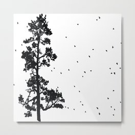 Pine Tree Flock in Bend, Oregon by Seasons K Designs Metal Print