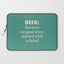 Beer illustration quote, vintage Pub sign, Restaurant, fine art, mancave, food, drink, private club Laptop Sleeve