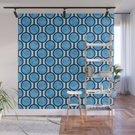Retro-Delight - Simple Circles (Laced) - Sky Wall Mural