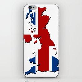 great britain map iPhone Skin