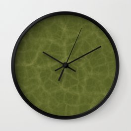 Leaf Texture Wall Clock