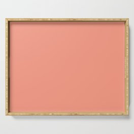 Peach Pink - Fashion Color Trend Fall/Winter 2019 Serving Tray
