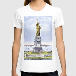 12,000pixel-500dpi - Nathaniel Currier - Currier and Ives Liberty - Digital Remastered Edition T-shirt