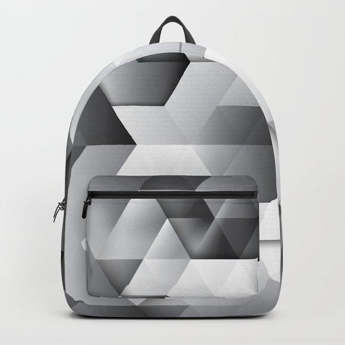 Black geometrics Backpack