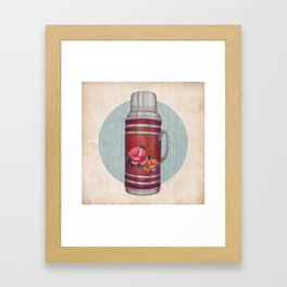 Retro Warm Water Jar Framed Art Print