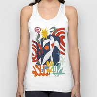 matisse Tank Tops featuring Inspired to Matisse by Chicca Besso