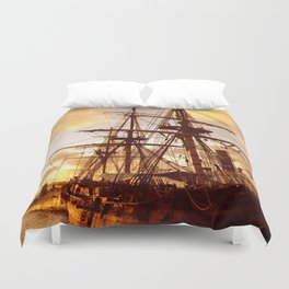 PIRATE SHIP :) Duvet Cover