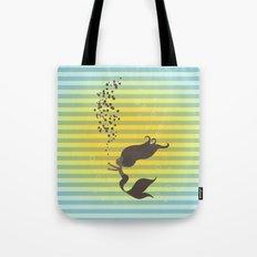 Black Mermaid Tote Bag