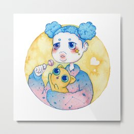 Umie & Mochi IV Metal Print