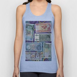 Money-Collage Unisex Tank Top
