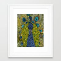 future Framed Art Prints featuring Mr. Pavo Real by Valentina Harper