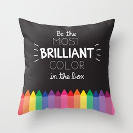 Most Brilliant Color Throw Pillow