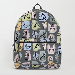 Heartful Yoga Grey Asana Backpack