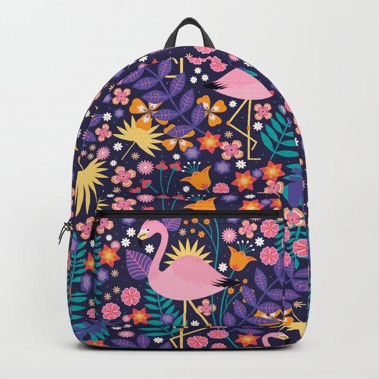 Flamingo Tropical Backpack