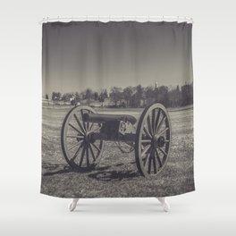 Artillery Placement Gettysburg National Military Park Pennsylvania Civil War Battlefield  Shower Curtain