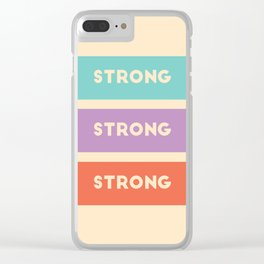 stay strong kids Clear iPhone Case