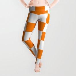 Checkered - White and Orange Leggings