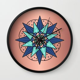 Mandala on Copper Wall Clock