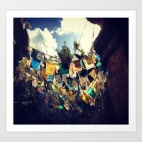 Flags of a different world. Art Print
