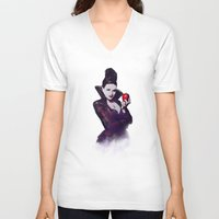 evil queen V-neck T-shirts featuring The Evil Queen V2 by Cursed Rose