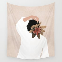 With a Flower Wall Tapestry
