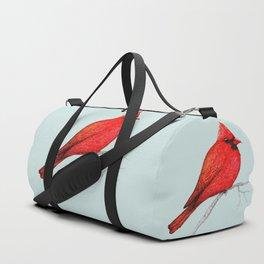 Northern cardinal pen drawing Duffle Bag