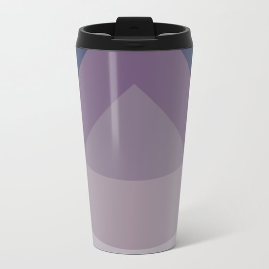 Scandinavian BLUE PURPLE MAUVE Drops Metal Travel Mug