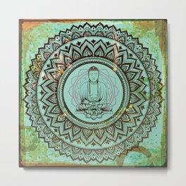 buddha lotus Metal Print
