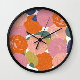Flowers In Full Bloom Wall Clock