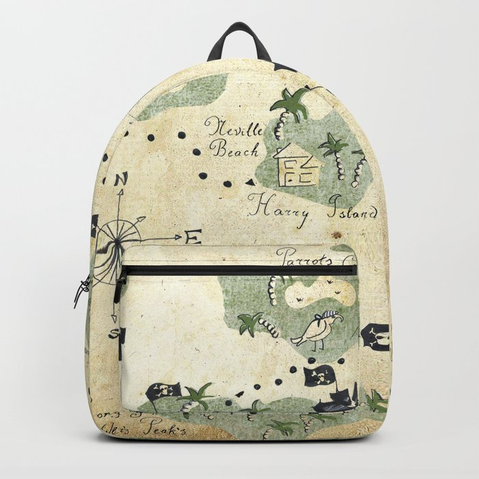 Hand Drawn Pirate Map Backpack