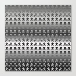 Skull and XBones - Smaller: Metal and Slight Pink Canvas Print