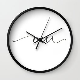 Oui Wall Clock
