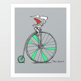 Trail Blazing Gnome Art Print