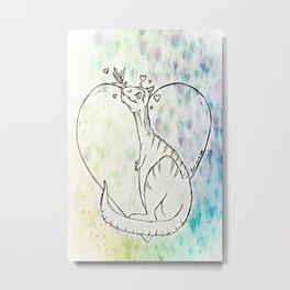 I Love you, Dragonfly Metal Print