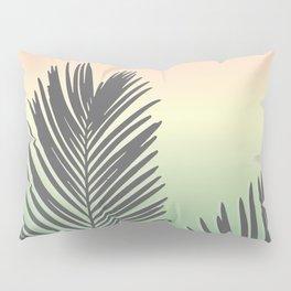 Pastel Tropical Plam Tree Pillow Sham