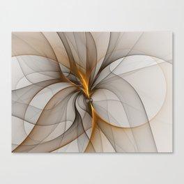 Elegant Chaos, Abstract Fractal Art Canvas Print