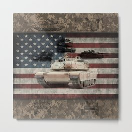 Abrams American Miltary Main Battle Tank Metal Print