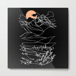 Moonrise on Mount Begbie Metal Print