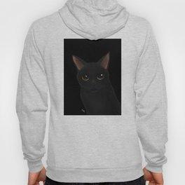 Black cat in black Hoody