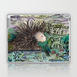 Porcupine Hair Don't Care Laptop & iPad Skin