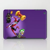 harley quinn iPad Cases featuring Harley Quinn by Eileen Marie Art